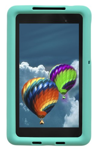 Bobj Silikon-Hulle Heavy Duty Tasche fur Nexus 7 FHD 2013 Modell Tablette (Nicht für 1. Generation 2012 Nexus 7) - BobjGear Schutzhulle (Turkis)