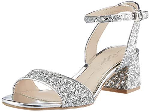 Buffalo Damen RAINELLE Sandale mit Absatz, Silver, 41 EU