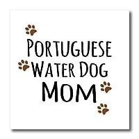 3dRose ht_154177_2 ポルトガル ウォーター ドッグ ママ 犬 犬 犬 犬 愛 誇り ママ ペット オーナー アイロン 熱転写 6 x 6インチ ホワイト