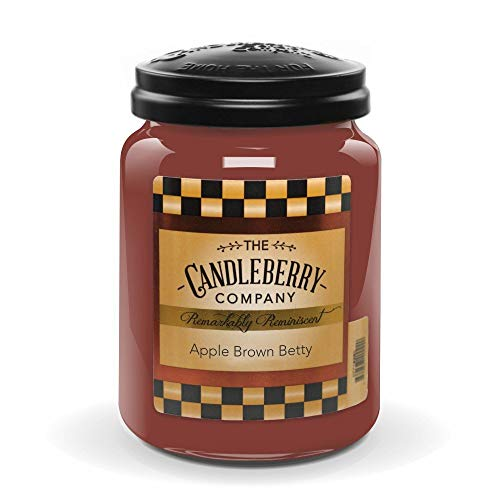 Candleberry Candles   Apple Brown Betty Candle   Best Candles on The Market   Hand Poured in The USA   Highly Scented & Long Lasting   Large Jar 26 oz