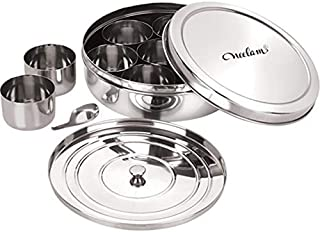 Neelam Stainless Steel Spice Box Set of 10 Pieces - 2175 ml