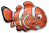 FlexMetal FINDING NEMO Marlin Orange Black Clown Fish 27' Birthday Party Mylar Balloon