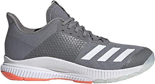 adidas Damen Crazyflight Bounce 3 Leichtathletik-Schuh, Grau DREI F17 / FTWR Weiss/Signalkorallen, 39 1/3 EU
