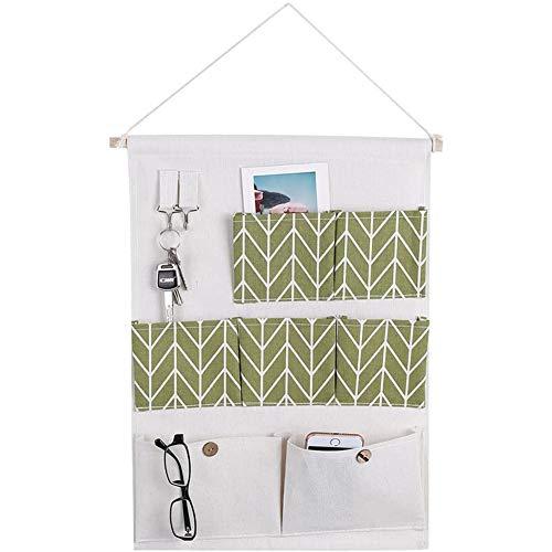 YCX Hängende Aufbewahrung Tasche Mit Taschen Baumwolle Leinen Wand Tür, Zum Aufhängen Von Kleidung Aufbewahrungsbeutel Organizer,4