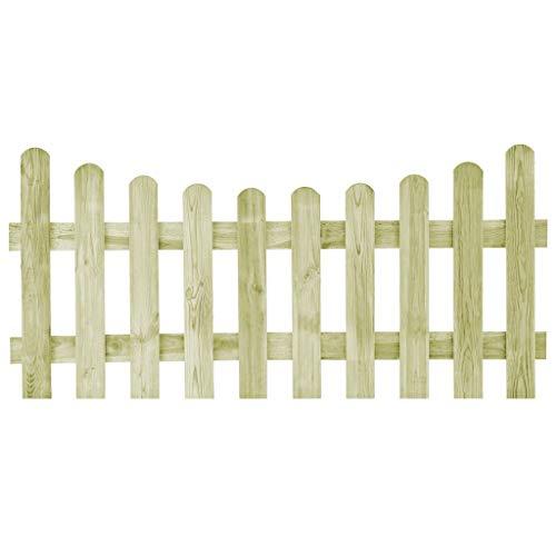 Festnight Cancello per Steccato da Giardino Esterno in Legno di Pino Impregnato FSC 170 x 60 cm/170 x 80 cm/170 x 120 cm/170 x 150 cm