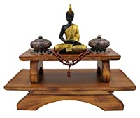 Premium Solid Wood Hand Carved Personal Shrine Altar Meditation Table
