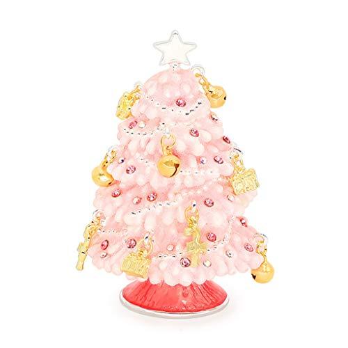 DEF Jewelry Box Albero di Natale Creativo Girly Jewelry Box di stoccaggio, Regali for Le Ragazze e Le Signore for Il Compleanno, San Valentino e Natale (Color : Pink)