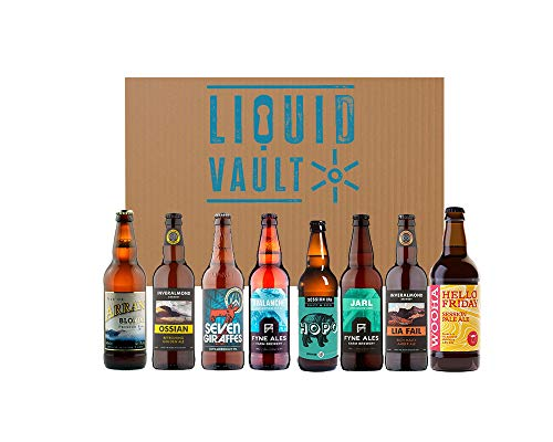 Scottish Real Ale Discovery Beer Box, A Mixed Case of 8 Real Ales From Scottish Breweries Including Fyne, Broughton, Wooha, Arran, Williams Bros, Inveralmond