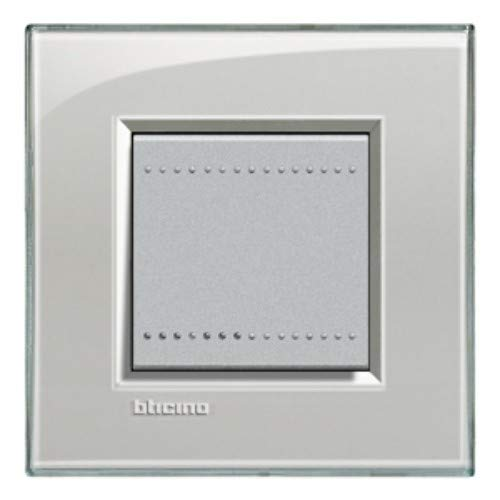 Bticino livinglight - Placa 2 módulos gris hielo