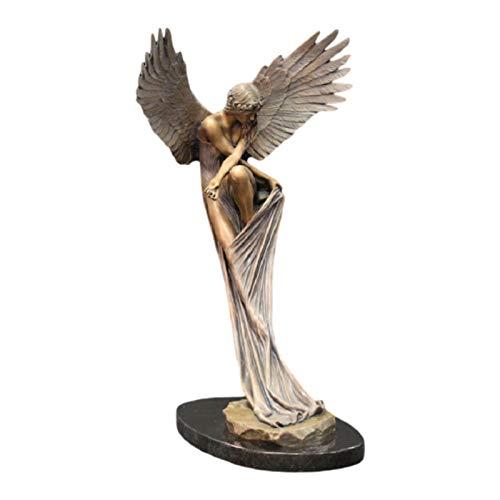 Decoração de resina de anjo - Decoração de resina de anjo Lembrança Redenção Estátua de anjo religioso Ornamento de estátua inovador Esculturas de decoração de casa