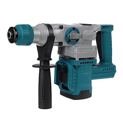 Hammer rotativo eléctrico sin cable sin cepillo recargable 2 en 1, herramienta de potencia de perforación de impacto 4200RPM