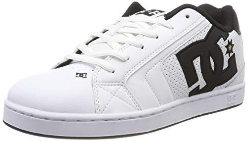 DC Shoes Herren Net - Low-top Shoes for Men Skateboardschuhe, White/Gold, 52 EU