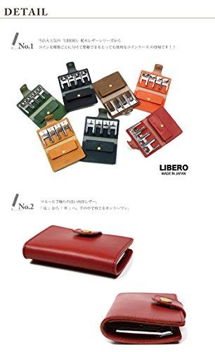 LIBERO(リベロ)栃木レザーコインキャッチャー付きコインケースグリーン