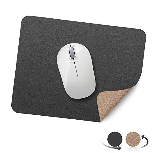AtailorBird Mauspad Umweltfreundliche Naturkork und PU Leder Material (270*210*2mm) Office Mausepad Wasserdicht Doppelseitige Mauspad für PC, Computer und Laptop - Dunkelgrau und Cork