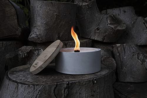 \'Ahi\' by Murph & Monty   Beton Outdoor Kerze   Wachsfresser Windlicht für Balkon und Garten   unendliche Brenndauer