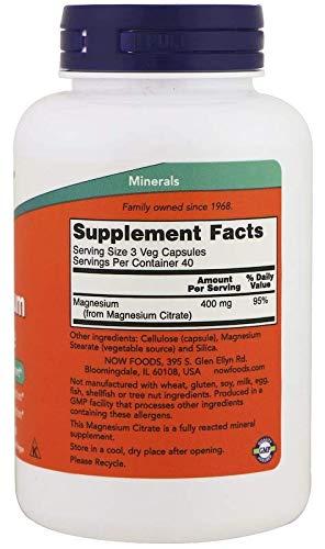 Now Foods, マグネシウムキレート、植物性カプセル 120粒 並行輸入品