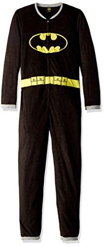 TV Store Batman Black Union Suit Mens Caped Pajama (Adult Medium)