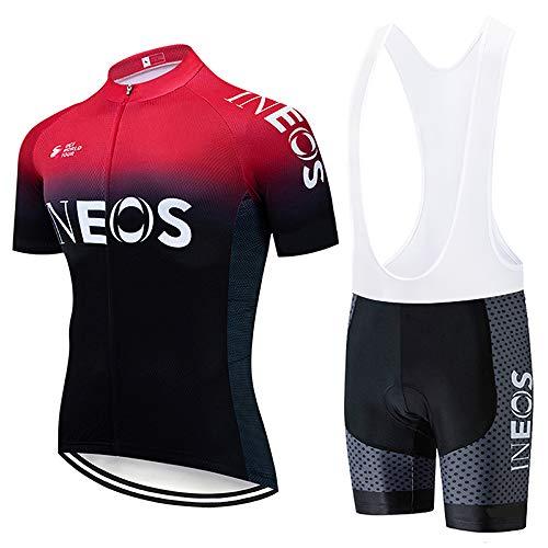 Radsport-Bekleidung für Herren in A08-Rot Schwarz, Größe L