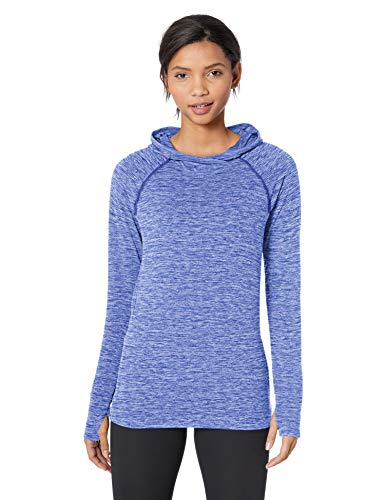 Amazon Essentials Brushed Tech Stretch Popover Athletic-Hoodies, Blue Space dye, X-Large