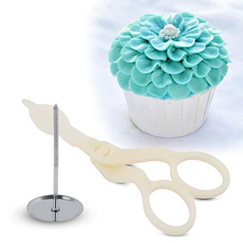 Tijeras de flores para torta y mousse de flores en crema para hacer tartas, fondant, azúcar, manualidades, tijeras, decoración de repostería