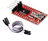 TECNOIOT FTDI FT232RL USB to TTL Serial Converter Adapter Module 5V and 3.3V + Cable