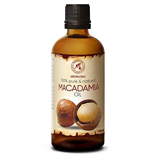 Huile de Macadamia 100ml - 100% Pur et Naturel - Huile de Base - Riche en Minéraux - Vitamines - Soins intensifs pour le Visage - Corps - Cheveux - utilisé pour le Aromathérapie - Détente - Massage
