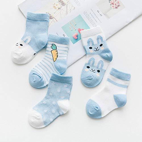 MIWNXM 10 Pares Calcetines de algodón de Dibujos Animados bebé niño niña recién Nacido niño pequeño niños cálido Suave Transpirable Conejito Calcetines Cortos