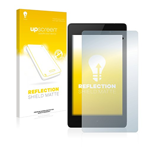 upscreen Entspiegelungs-Schutzfolie kompatibel mit Google Nexus 7 (2013) – Anti-Reflex Bildschirmschutz-Folie Matt