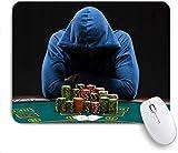 Mausmatte Mauspad Casino Glücksspielhaus Gamestar gehärteter Spieler Jeton maßgeschneiderte Kunst Mauspad rutschfeste Gummibasis für Computer Laptop Schreibtisch Schreibtischzubehör