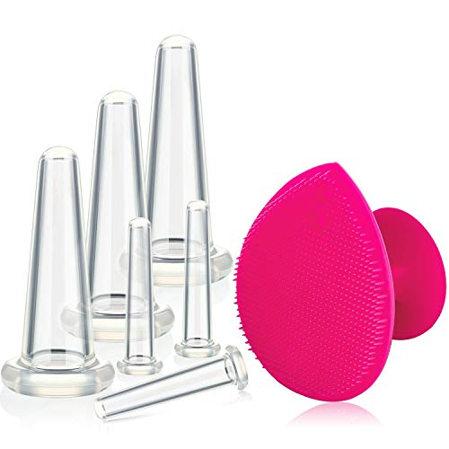 Cupping Facial Set for Face and Eye Cupping Massage, Facial Cupping Set Silicone Cups with...