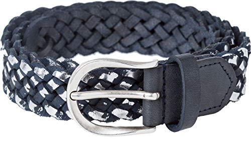 BRAX Flechtgürtel Casual Breit Zweifarbig Cintura, Blu (Navy 22), 7 (Taglia Produttore: 95) Donna