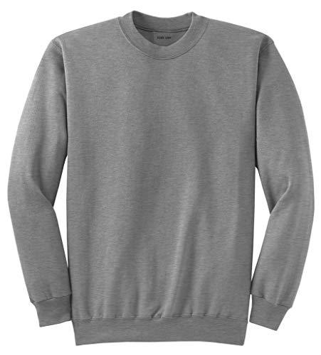 Joe's USA- Men's Tall Ultimate Crewneck Sweatshirt-Athletic Heather-2XLT