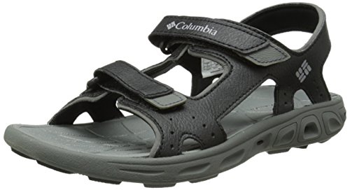 Columbia Kids' TECHSUN Vent Sport Sandal, Black Grey, 4 M US Big Kid