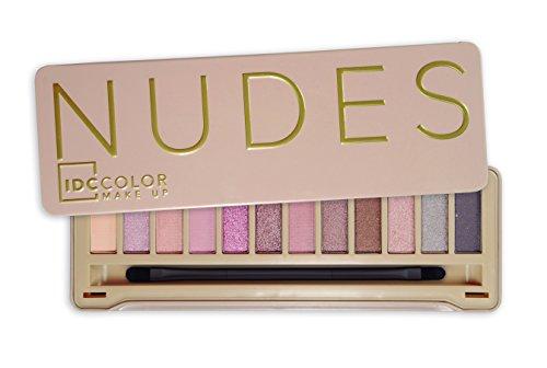 IDC Color Nudes - Palette di ombretti in scatola di latta, colore: incarnato