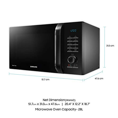 Samsung 28 L Convection Microwave Oven (MC28H5145VK/TL, Black, slimfry)