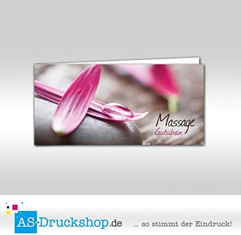 Gutschein Massage - Blütenblätter     100 Stück   DIN Lang B0794XD5V1   | New Product 2019  b3f763