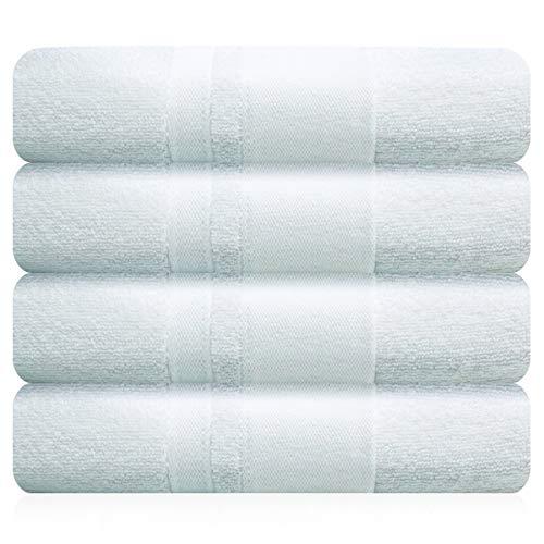 BRANDSLOCK Juego de toallas, toallas de baño, toallas de mano, toallas de baño grandes, 600g/m² de algodón suave, algodón, Blanco, 4 Hand Towels