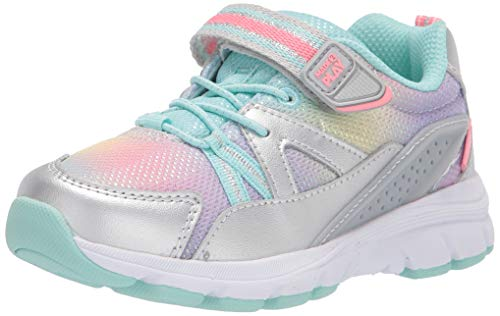 Stride Rite girls Made2play Journey Adaptable Running Shoe, Silver/Multi, 7 Wide Toddler US