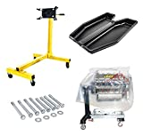 JEGS Engine Stand Tray Combo   1000 LBS Capacity   Includes Stand, Bolt Kit, Drip Tray, and Engine Storage Bag