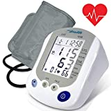 Digital Blood Pressure Monitor - Portable Automatic Pulse Rate Systolic Diastolic Bp Tracker Machine, Works W/Pyle Health App - Standard Cuff Fits Large, Any Size Upper Arm - Pyle