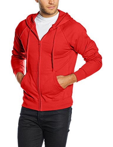 Fruit of the Loom Ss069m Sudadera, Rosso, Large para Hombre