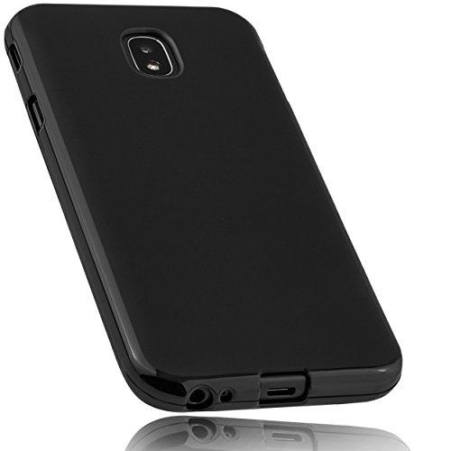 mumbi Hülle kompatibel mit Samsung Galaxy J3 2017 Handy Case Handyhülle, schwarz