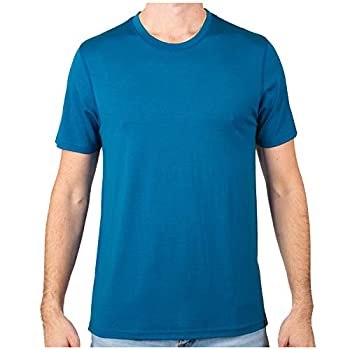 MERIWOOL Men's Merino Wool Short Sleeve T Shirt Lightweight Base Layer Electric Blue