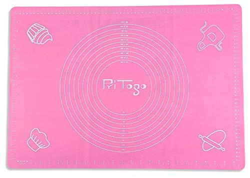 Seifenprofis Pritogo® Rollmatte Backmatte XXL 65 x 45 cm (Rosa) aus Silikon - Antihaft - BPA-Frei - rutschfest