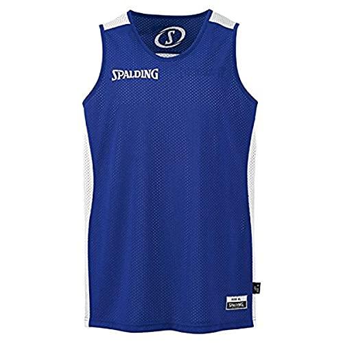 SPALDING - Essential Maillot Reversible - Maillot de Basket - Homme - Bleu (Royal/Blanc) - Taille: XS