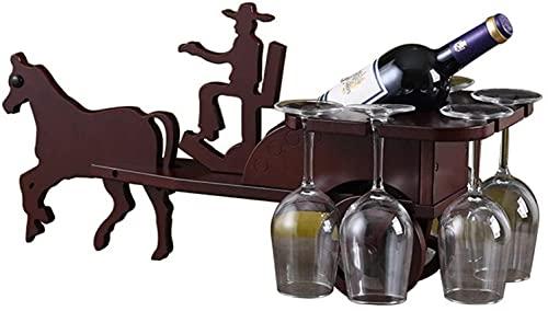 Estante para vino Organizador para vino Estante para botellas Estante para vino Portavasos pequeño Portavasos de madera maciza Porta botellas de vino creativas Estantes para botellas de vino Vasos d