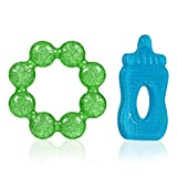 Prime Soft Water Filled Sensory Rattle Ring Toy and Infant Teether Soother