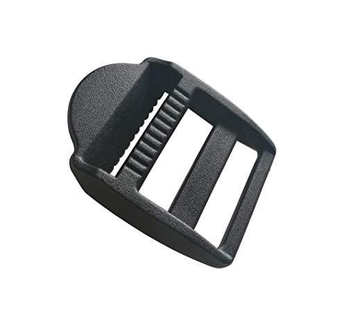 Kunststoff-Spannschlösser für Gürtel, Rucksack, Camping, Tasche, Gürtel, Koffer, 25 mm, Schwarz, 20 Stück