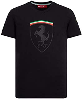 Branded Sports Merchandising B.V. Scuderia Ferrari Men's F1 Black Scudetto T-Shirt
