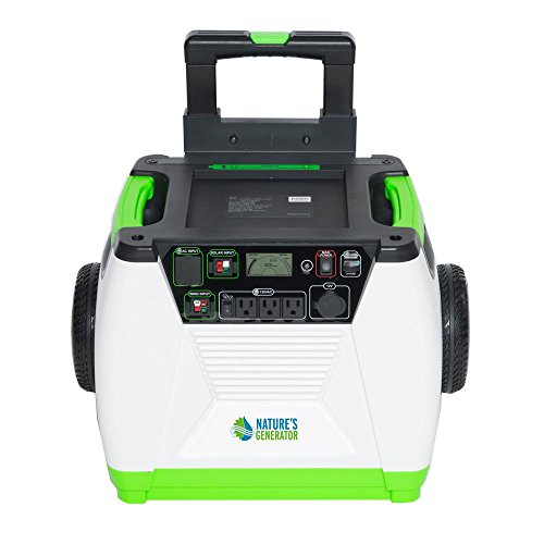 Nature's Generator - 1800W Solar & Wind Powered Portable Generator